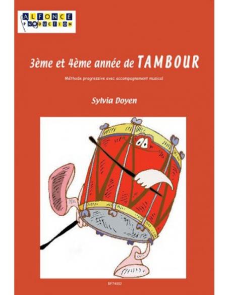 3ème et 4ème Année de Tambour avec CD- Sylvia Doyen