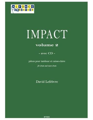 Impact vol.2 (avec CD) pour Tambour - LEFEBVRE David