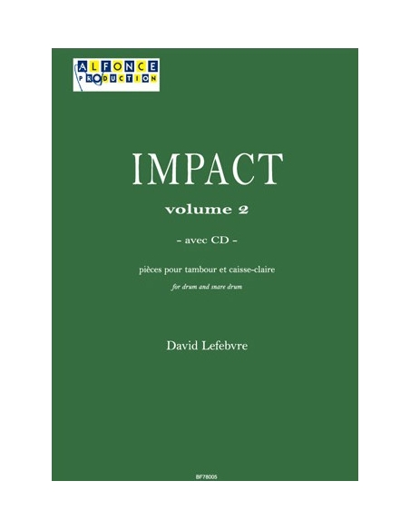 Impact vol.2 (avec CD) for drum - LEFEBVRE David