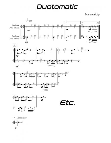 Pour débuter ! - 15 pièces facile pour tambour - Emmanuel JAY