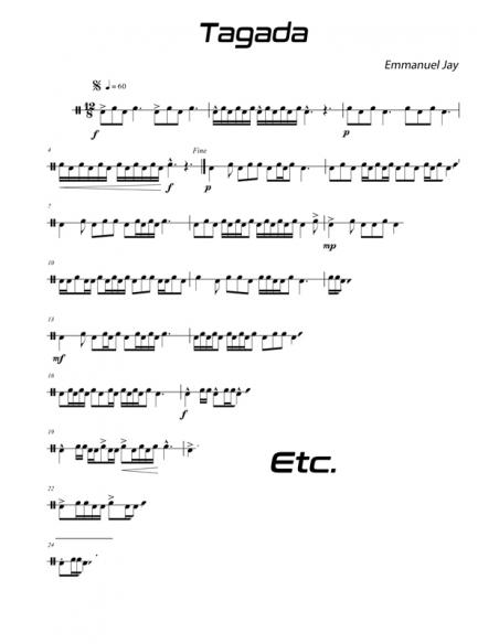 Tagada - 15 easy pieces for drum - Emmanuel JAY