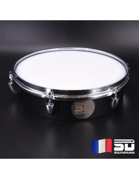 """Pad d'entrainement SOUNDPAD - Black finish 12"""" - Caisse-claire - Soundrums"""