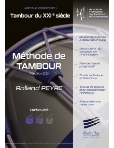 French traditional drum method - Beginner to early 2nd cycle - Rolland PEYRE
