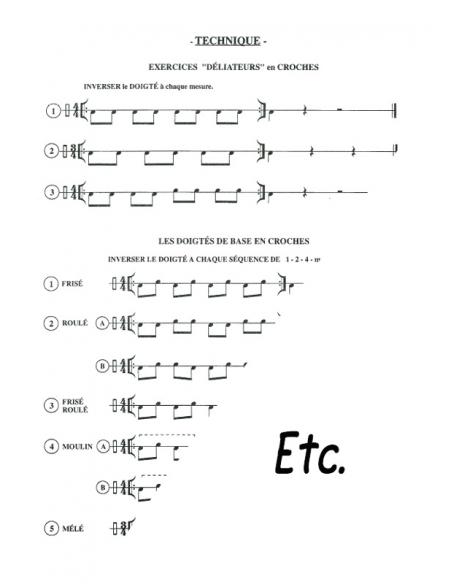 Méthode de tambour - Rolland PEYRE - Resta-Jay percussions