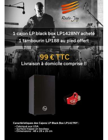 CAJON LP Black Box +  tambourin au pied offert + LIVRAISON