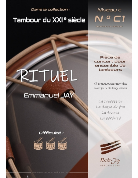 RITUEL - Concert piece for drum ensemble - Emmanuel JAY