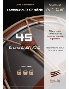 45 by Bruno Gasparac. For drum and bass drum with pedal