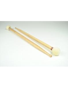 Snare sticks + hardwearing felt head - Maple