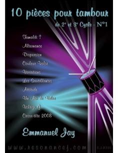 10 pièces pour tambour - Emmanuel JAY