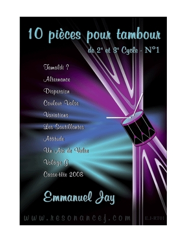 10 pieces for solo french military drum - Emmanuel JAY