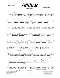Attitude - Snare Drum - Emmanuel JAY