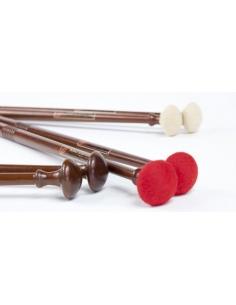 3 paires Baguettes Timbales BAROQUE - Signature Marie-Ange PETIT - Bois/Feutrine/Cuir