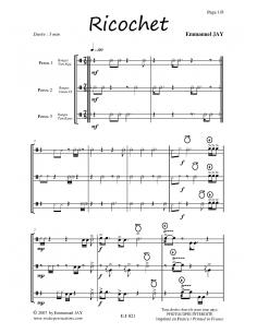 Ricochet - Percussion trio - Emmanuel JAY EJ033