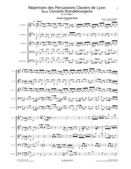3eme Concerto Brandebourgeois - Jean-Sebastien Bach