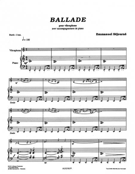 Ballade - E. SEJOURNE