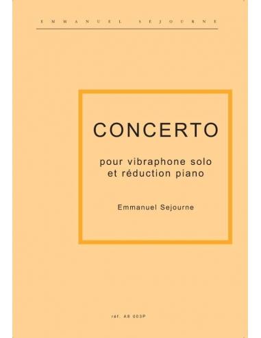 Concerto pour vibraphone solo et réduction piano