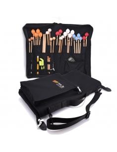 Nouveau - Sac à baguettes 32 paires + clé + bouchons+ poche à partitions