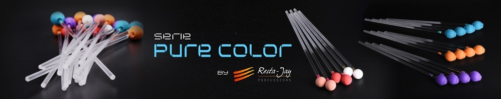 RESTA-JAY Pure Color mallets series for marimba, vibraphone, xylophone